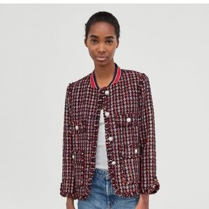 Zara woman tweed blazer